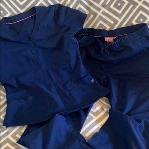 Navy scrub set